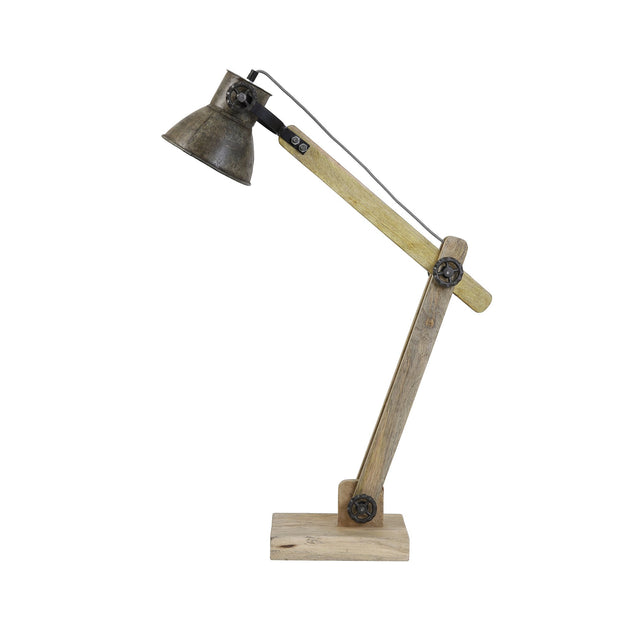 Ekerd Antique Wood Desk Lamp