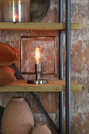 Pasi Wide Table Lamp | Antique Tin