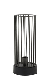 Jorim Table Lamp | Zinc & Matt Black