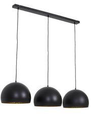 Jaicey Hanging Lamp | Matt Black and Gold