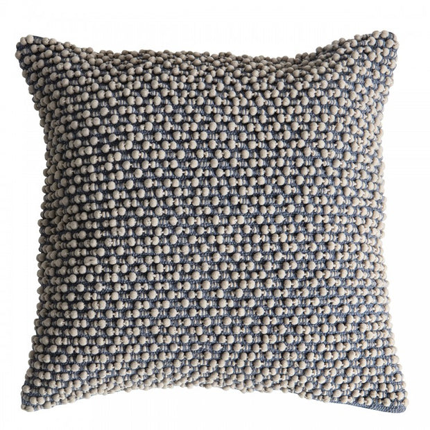 Cambo Pom Pom Cushion | Slate Grey