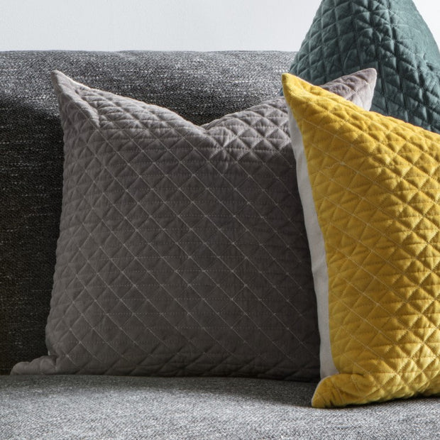 Diamond Quilted Cushion | Silver