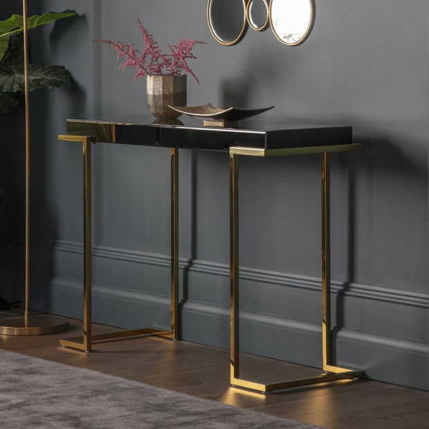 Savoy Mirrored Console | Black