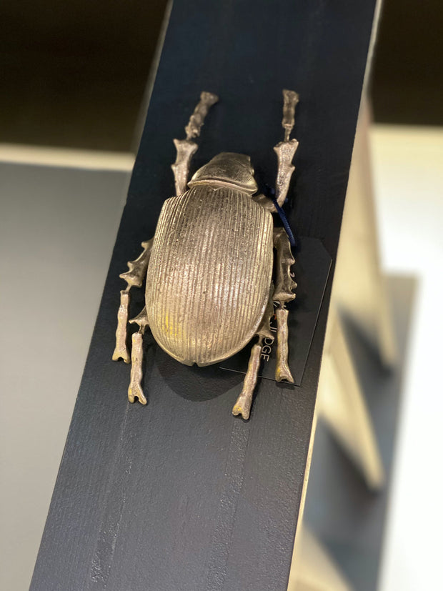Large Scarab Beetle Wall Decor | Silver