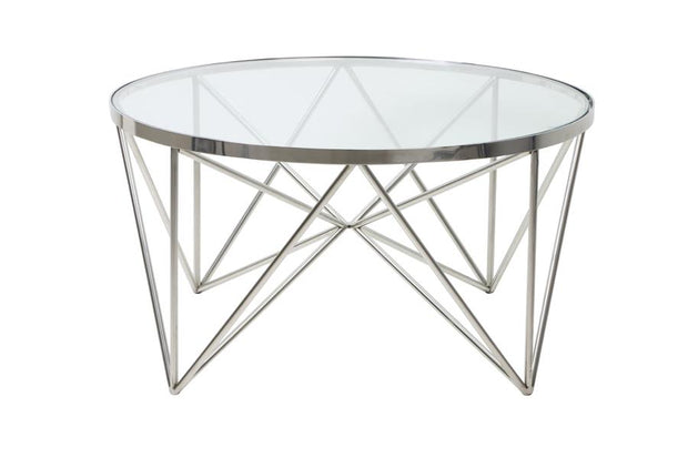 Bogata Coffee Table | Nickel and Glass