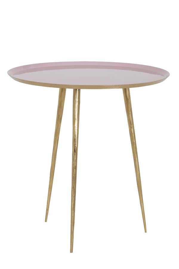 Figino Side Table | Pink and Gold