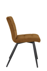 Fonda Velvet Dining Chair | Caramel
