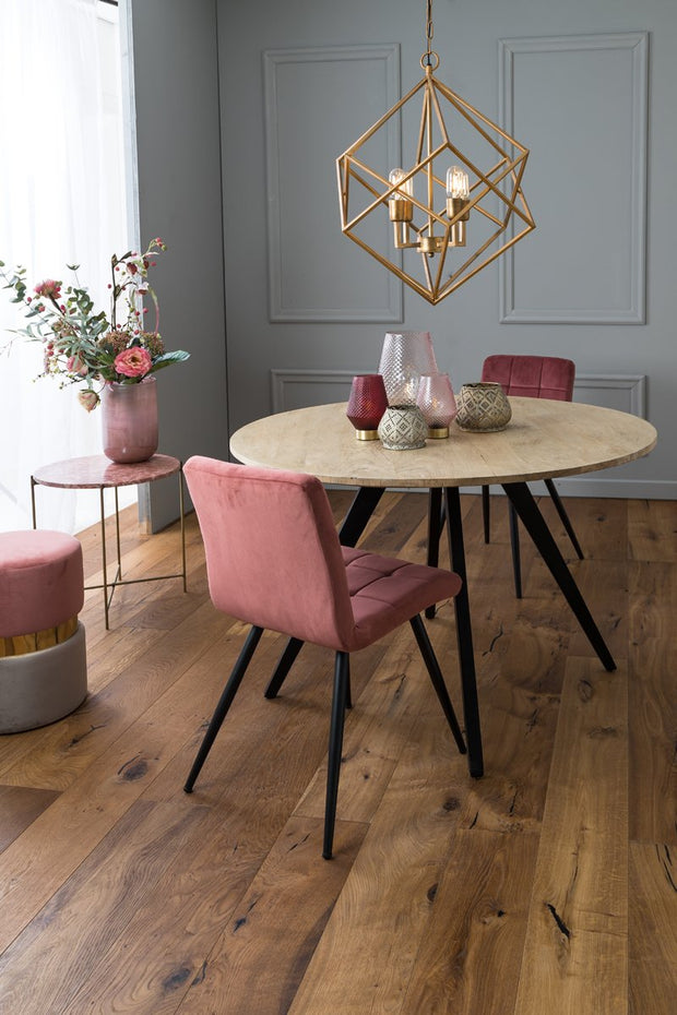 Fonda Velvet Dining Chair | Old Pink