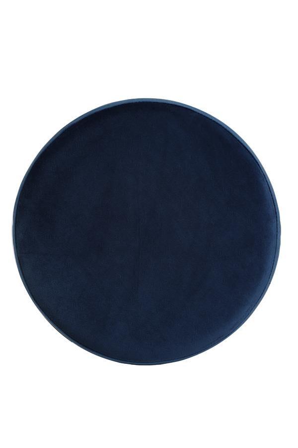 Twiggy Velvet Bar Stool | Dark Blue and Black