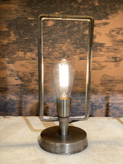 Pasi Narrow Table Lamp | Antique Tin