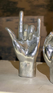 "Silver ""Rock On!"" Hand Figure"