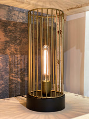 Jorim Table Lamp | Antique Bronze & Matt Black