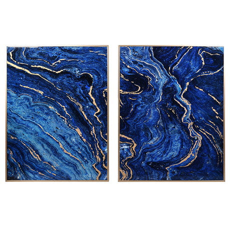 Cobalt Marble Effect Panels (Set of 2)