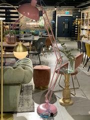 Extra Large Desk Style Floor Lamp | Matt Pink