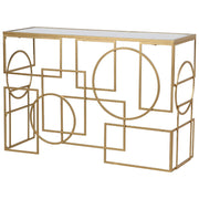 Shapes Mirror Top Console Table