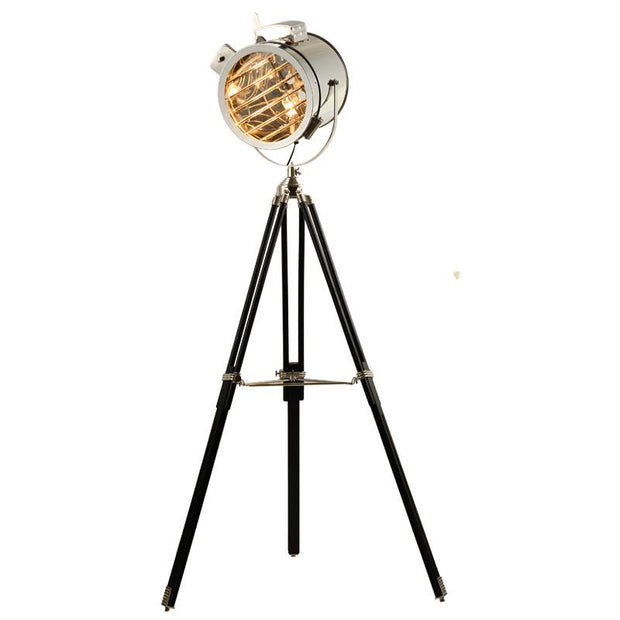 Chrome Spotlight Tripod Floor Lamp