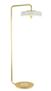 Trentino Floor Lamp | White and Gold