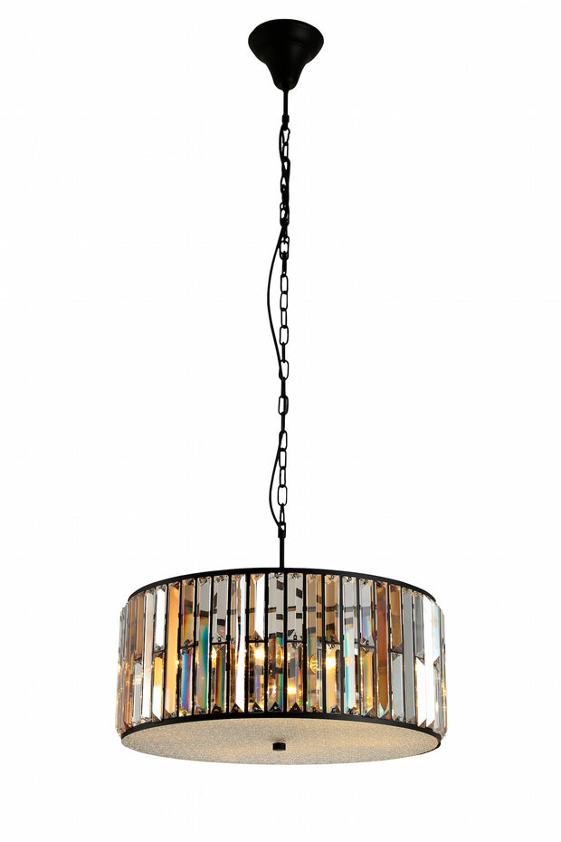 Amber Diamond Crystal Pendant Lamp