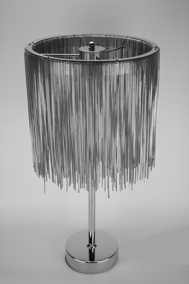 Silver Waterfall Table Lamp