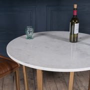 Dante Bianco Marble Dining Table | 90 x 90cm