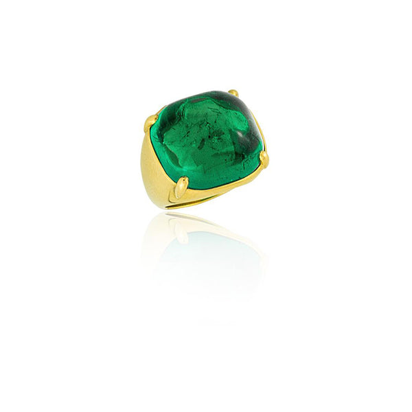 Stephen Russell 22K Gold & Colombian Emerald Ring
