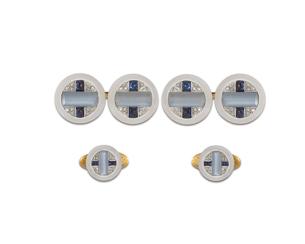 Cartier Art Deco Cufflink & Stud Set