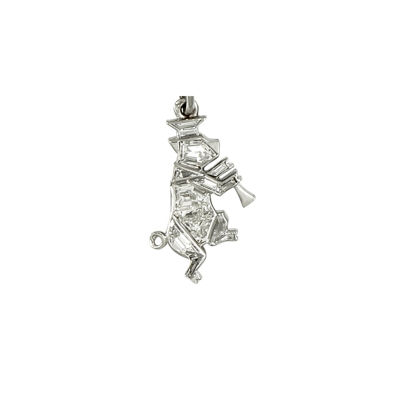 Boucheron Platinum & Diamond Art Deco Charm Bracelet