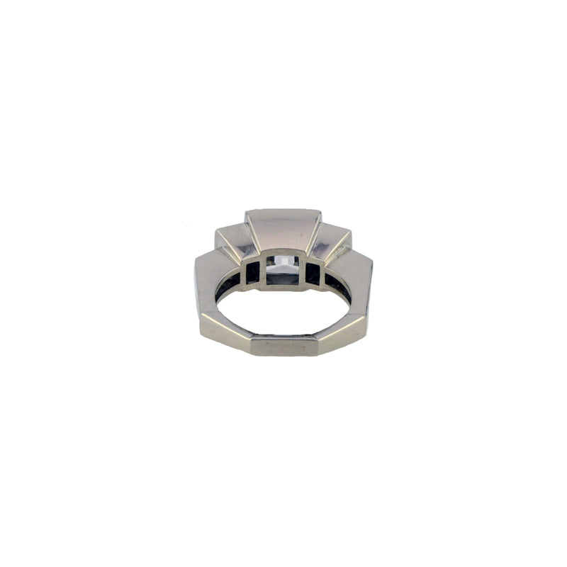 Stephen Russell Platinum & French Cut Diamond Ring