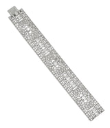 Lacloche Platinum Gold & Diamond Art Deco Bracelet