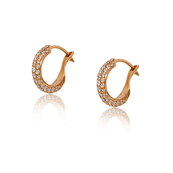 Stephen Russell Gold & Diamond Earrings