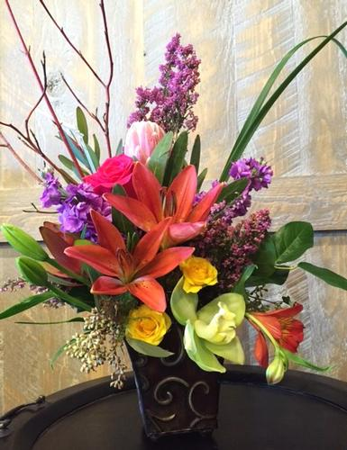 Tropical Sunrise Flower Bouquet