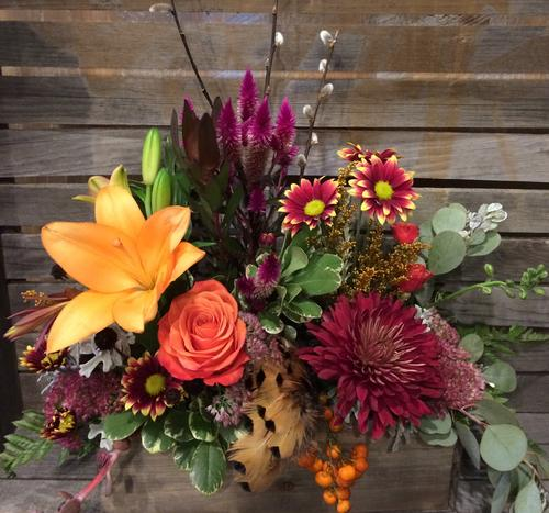 Bright Burgundy Flower Bouquet