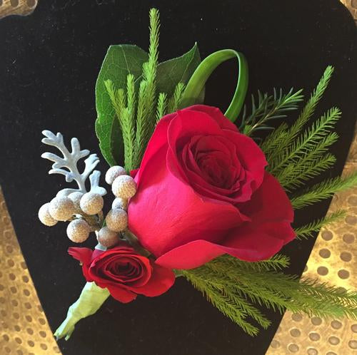 Red Boutonniere Flowers