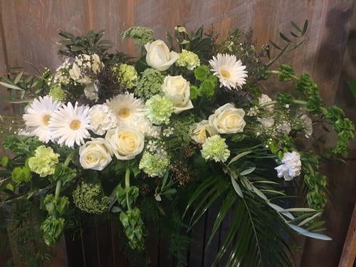 Veiled Valediction Casket Spray