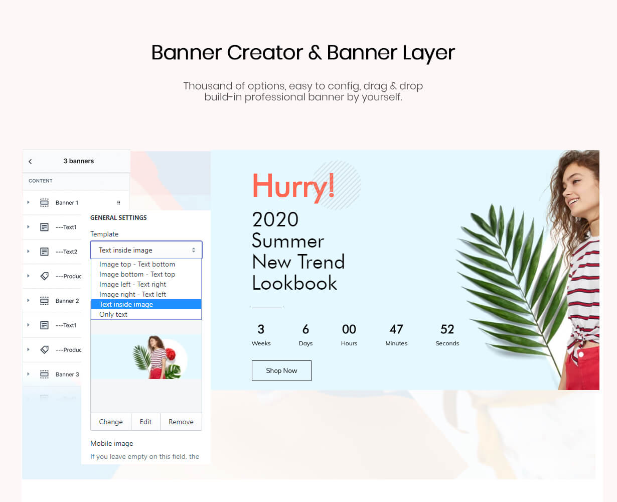 Banner Creator Pro Section