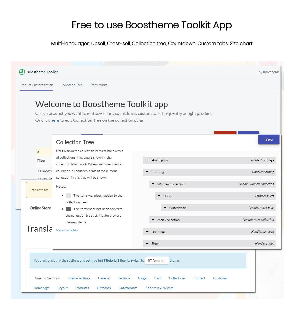 Boostheme Toolkit app
