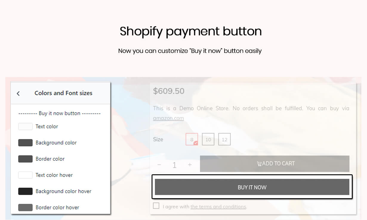 Customize buy it now button