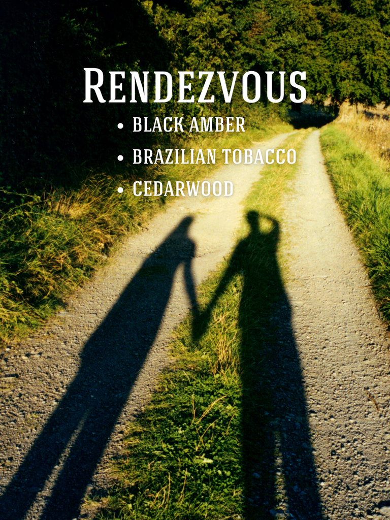 Rendezvous Soy Candle: Black Amber, Brazilian Tobacco, Cedarwood