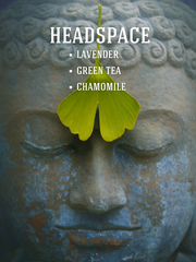 NEW! Headspace Soy Candle: Lavender, Green Tea, Chamomile