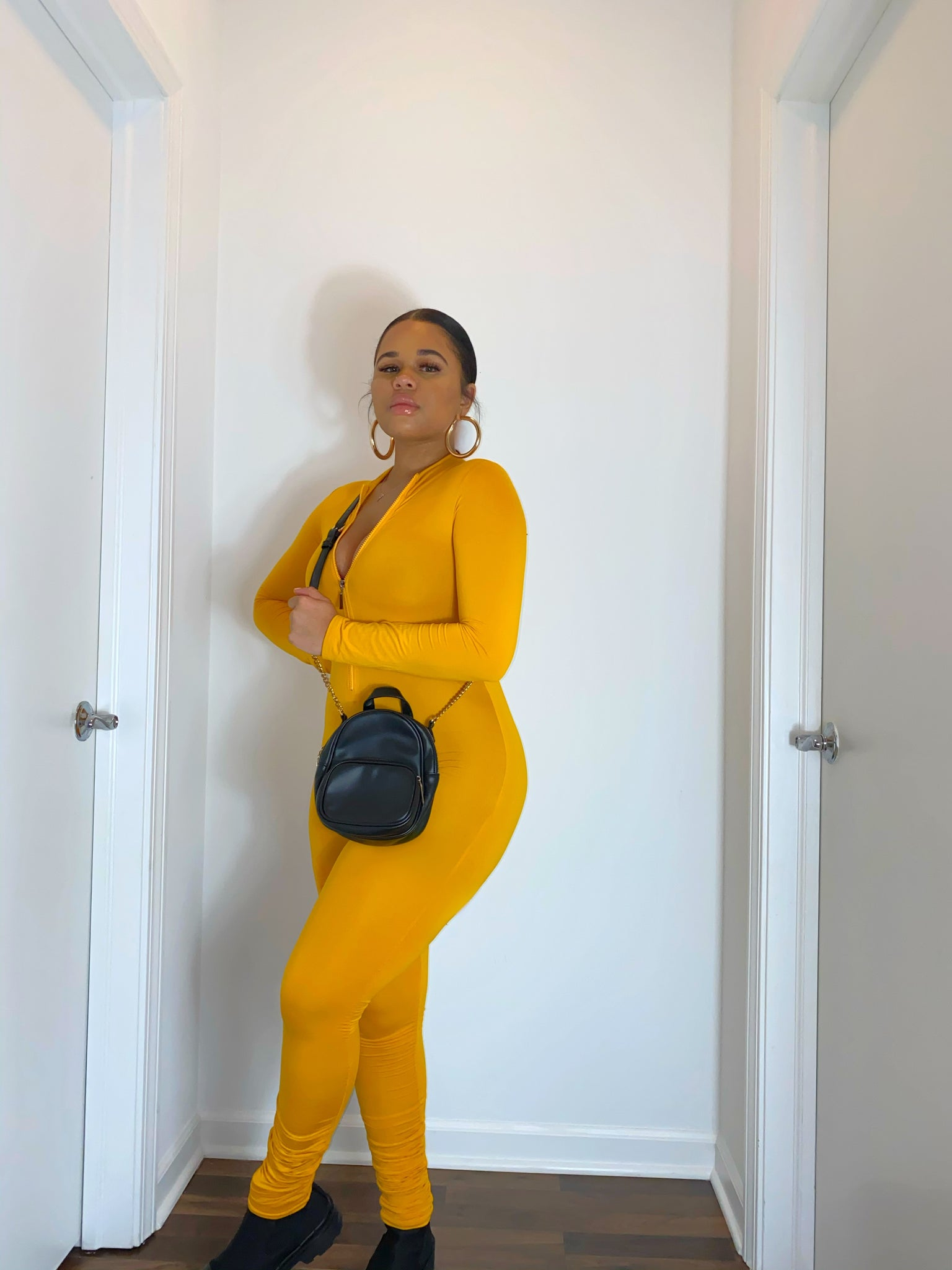 Mustard Stacked Jumpsuit