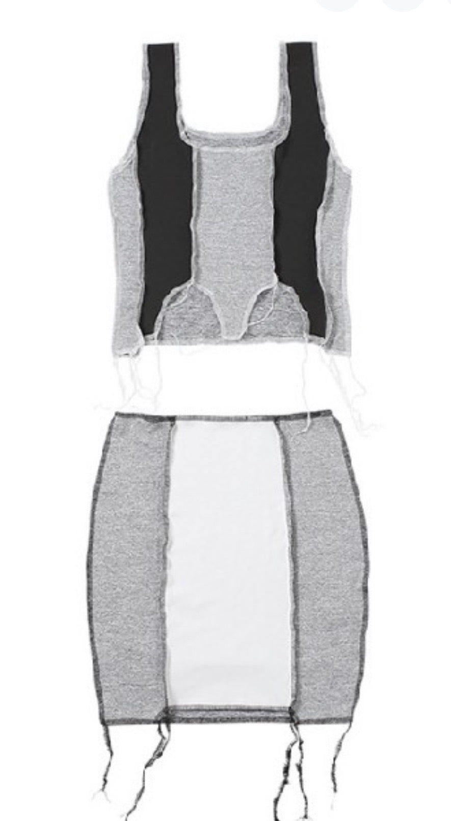 Grey Color Block Set
