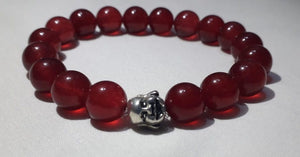 Natural Red Jade Gemstone Bracelet