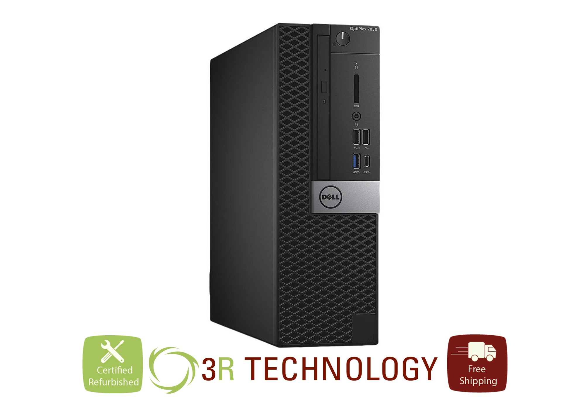 Dell Optiplex Desktop 7050 Intel i5 6th Gen. 1 Terabyte HD and 128 GB SSD, 16GB RAM Win 10 Pro