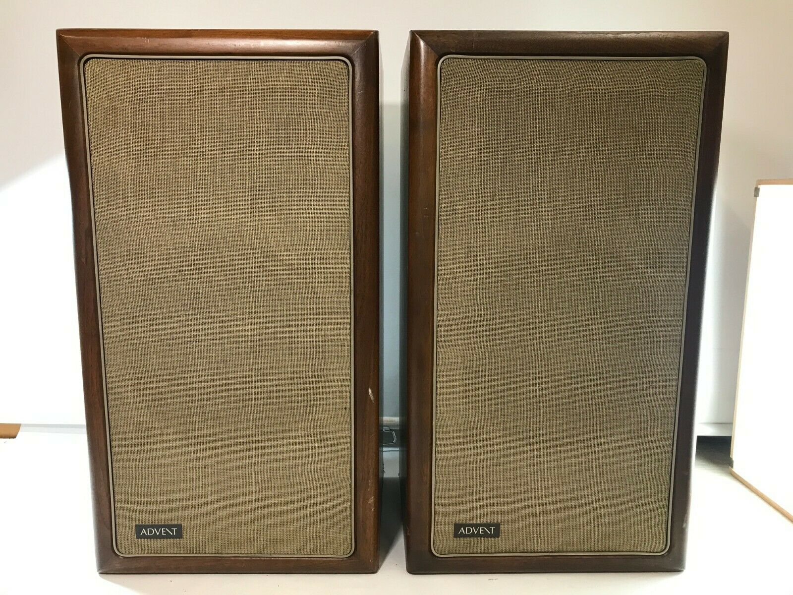 The Advent Loudspeaker Pair Vintage Walnut Cabinet - For Parts LOCAL PICKUP ONLY