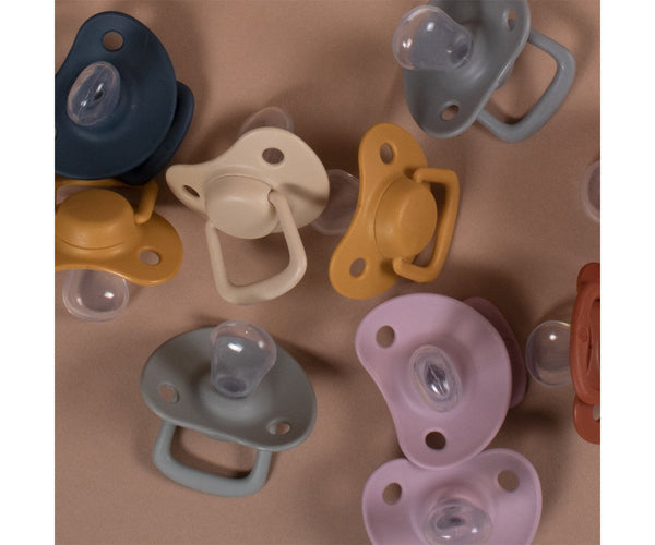 Pacifiers 2-pack dark grey 0-6M Filibabba