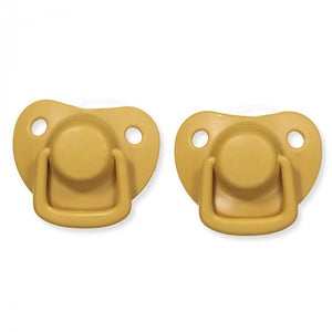 Pacifiers 2-pack golden mustard 0-6M Filibabba