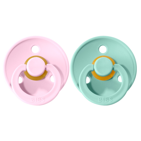 Bibs pacifier +18M 2-pack mint + baby pink