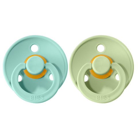 Bibs pacifier +18M 2-pack mint + pistachio