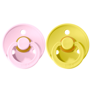 Bibs pacifier +18M 2-pack baby pink + pineapple