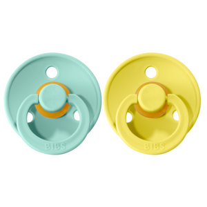 Bibs pacifier +18M 2-pack mint + pineapple